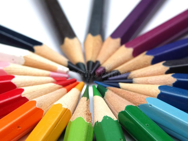 Download Coloring Pencils stock photo. Image of circle, blue, purple - 12345168