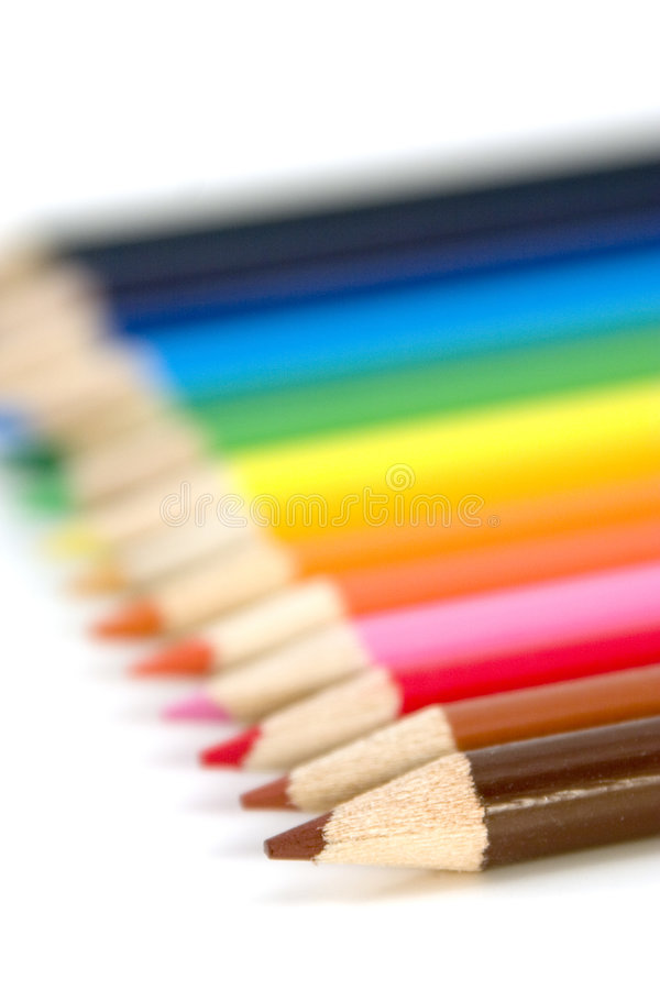 Coloring Pencils stock images