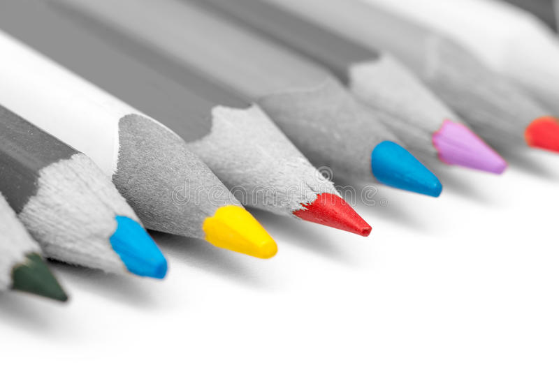 Coloring Pencils Tips royalty free stock image