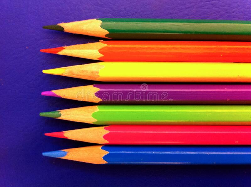 Coloring pensils for writing and drawing stock photo