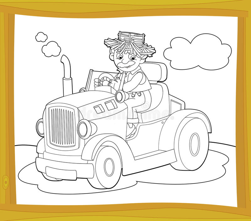 Download The Coloring Plate - Farm Vehicle - Illustration For The Children Royalty Free Stock Photos - Image: 32739948