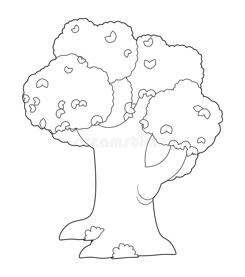 Download The Coloring Plate - Tree - Illustration For The Children Stock Illustration - Illustration of cartoon, country: 32768928