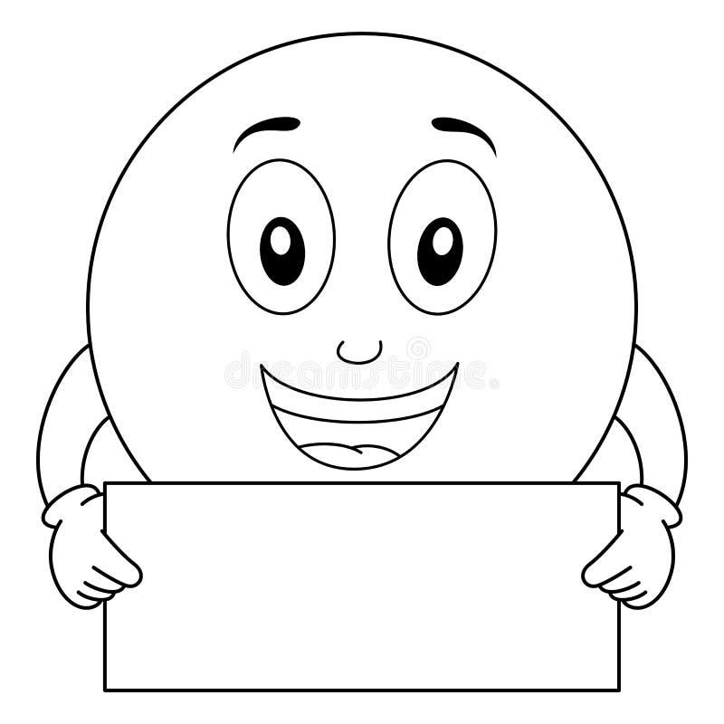 smiley emoticon holding megaphone stock vector