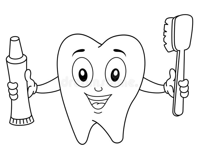 Coloring Page Of Toothbrush And Toothpaste