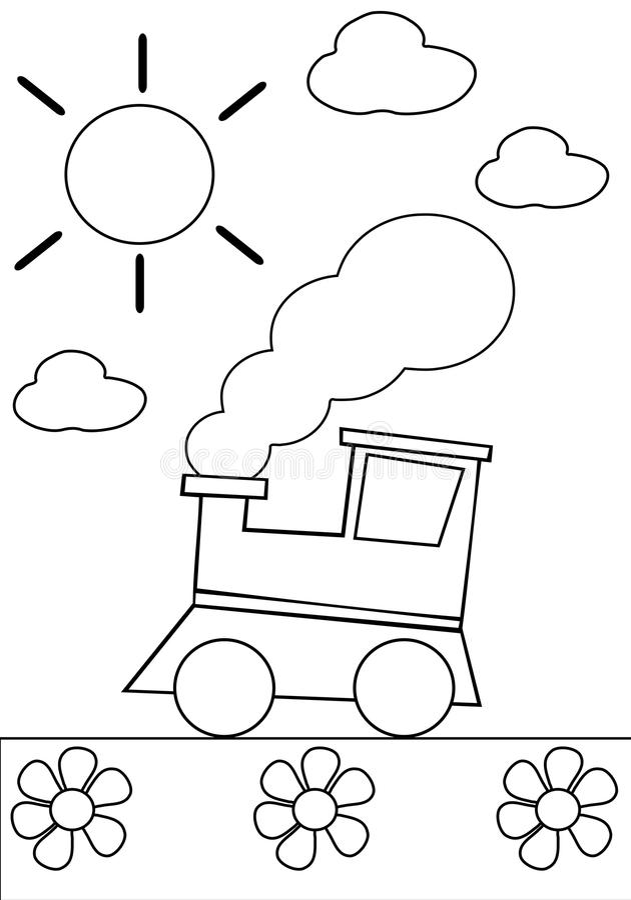 Coloring train