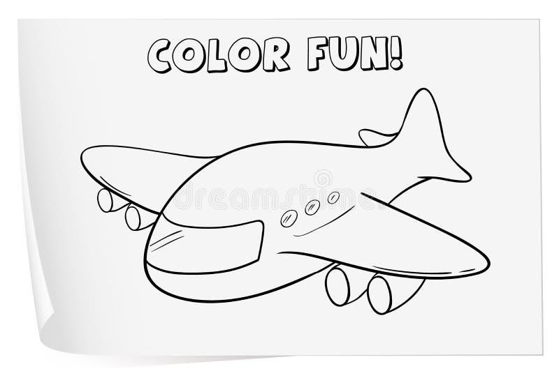 coloring worksheet stock vector  illustration of kindergarten