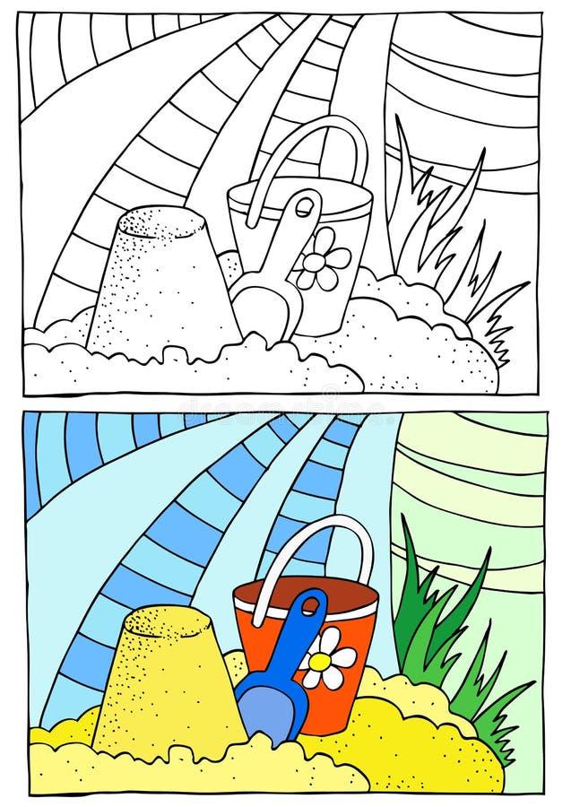 Colorir das crianças ilustração do vetor