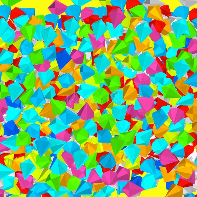 Coloristsamenstelling met diamanten stock illustratie