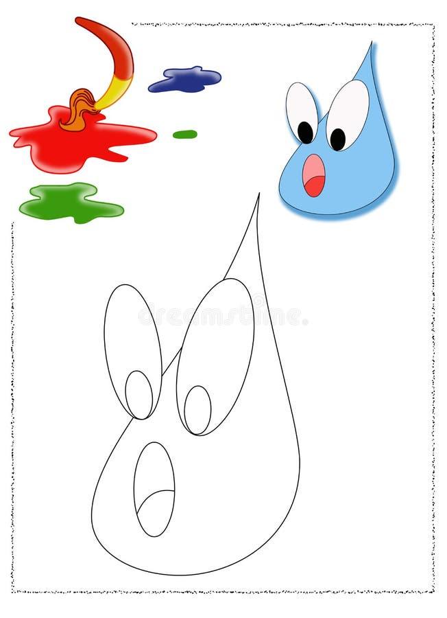 Coloritura della goccia di pioggia royalty illustrazione gratis