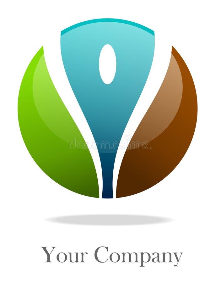 colorize logo sferę ilustracja wektor
