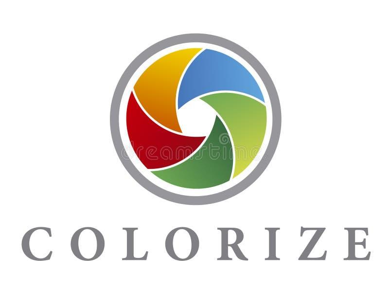 Colorize Zeichen lizenzfreie abbildung