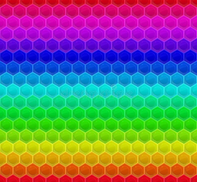 Colorized-Muster-Hexagon-Mosaik lizenzfreie abbildung