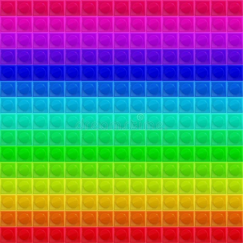 Colorized-Muster-vierflächiges Mosaik vektor abbildung