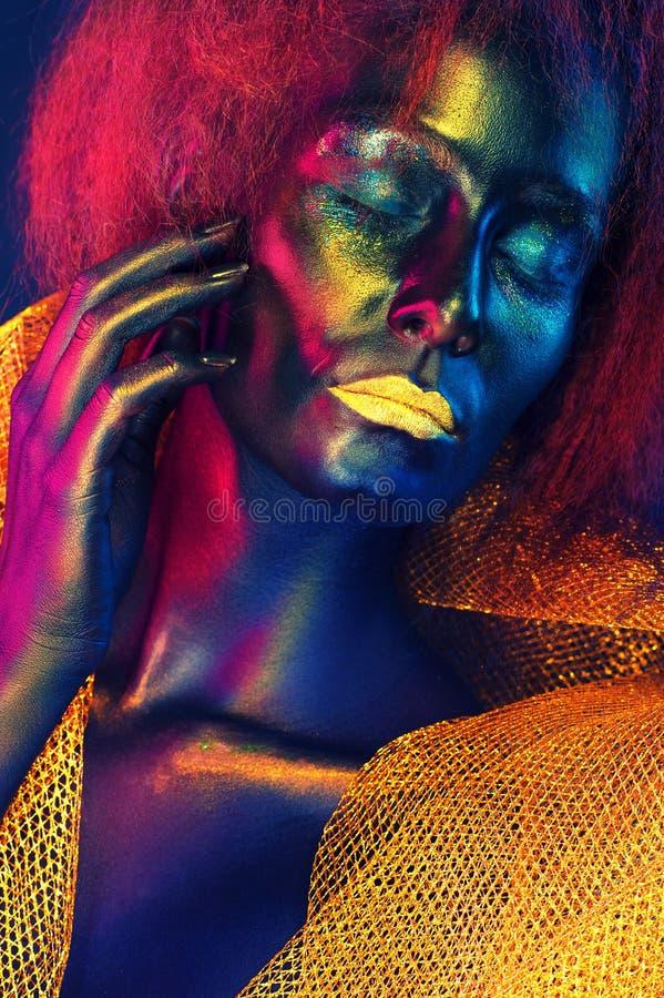 Colorizedgezicht stock afbeeldingen