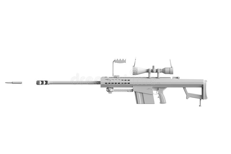 Download Colorless Gun with bullet stock illustration. Image of pistol - 21801985