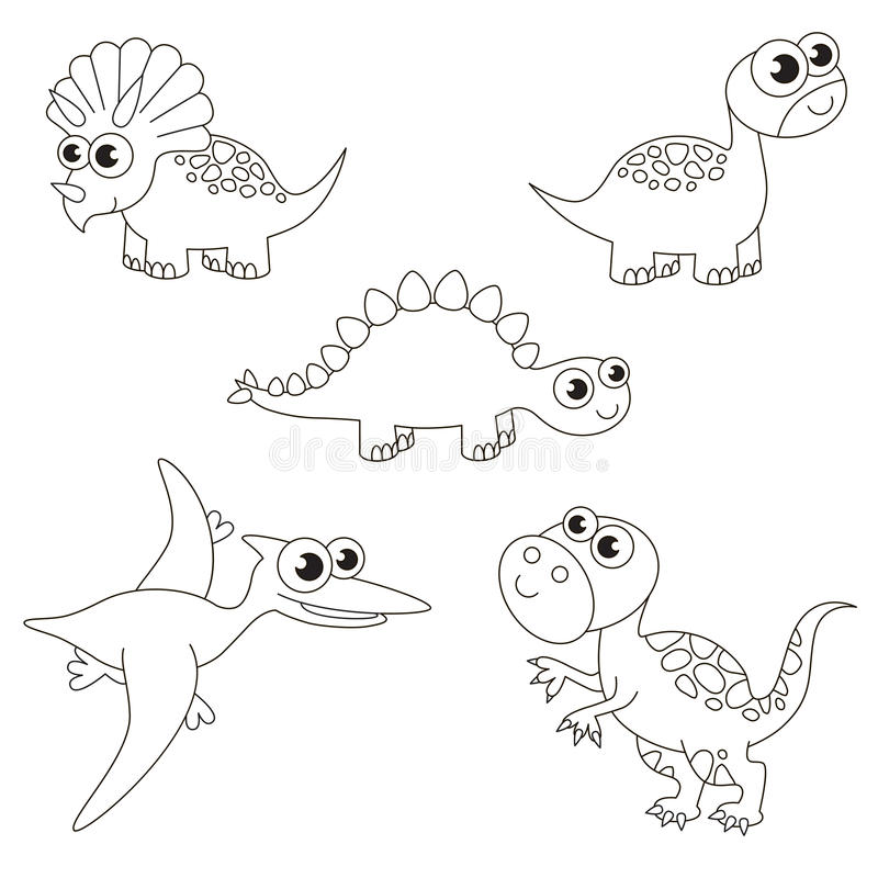 Download Colorless Tremendous Dinosaurus Dino Set The Big Page To Be Colored Simple Education