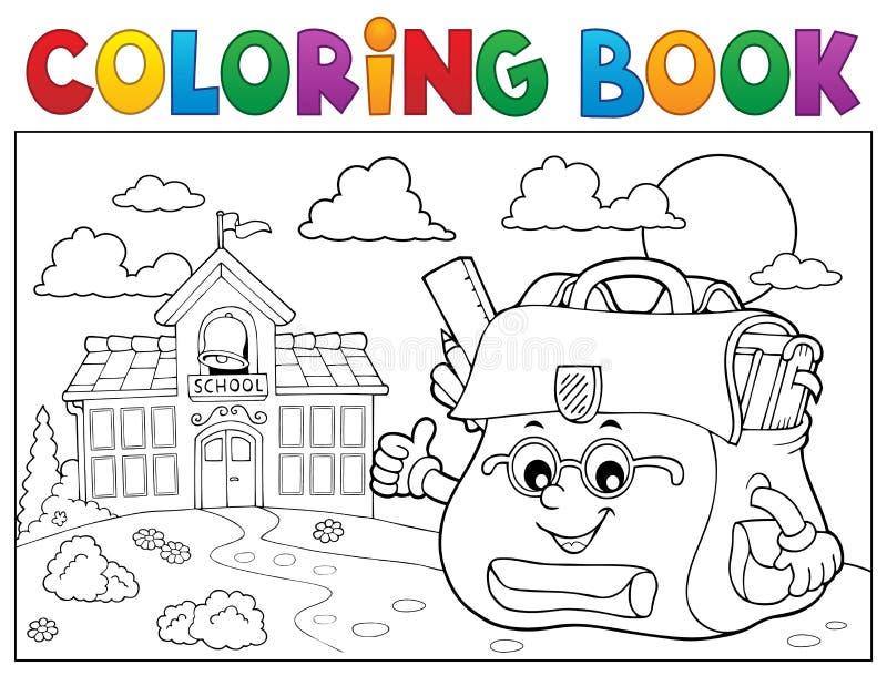 Coloroso libro feliz tema de bolso 3 ilustración del vector