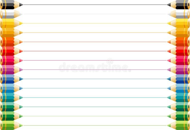 Colorpencils2 ilustração stock