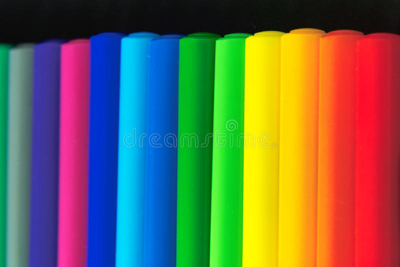 Colors. Series of felt tip pen different Art Colors royalty free stock image