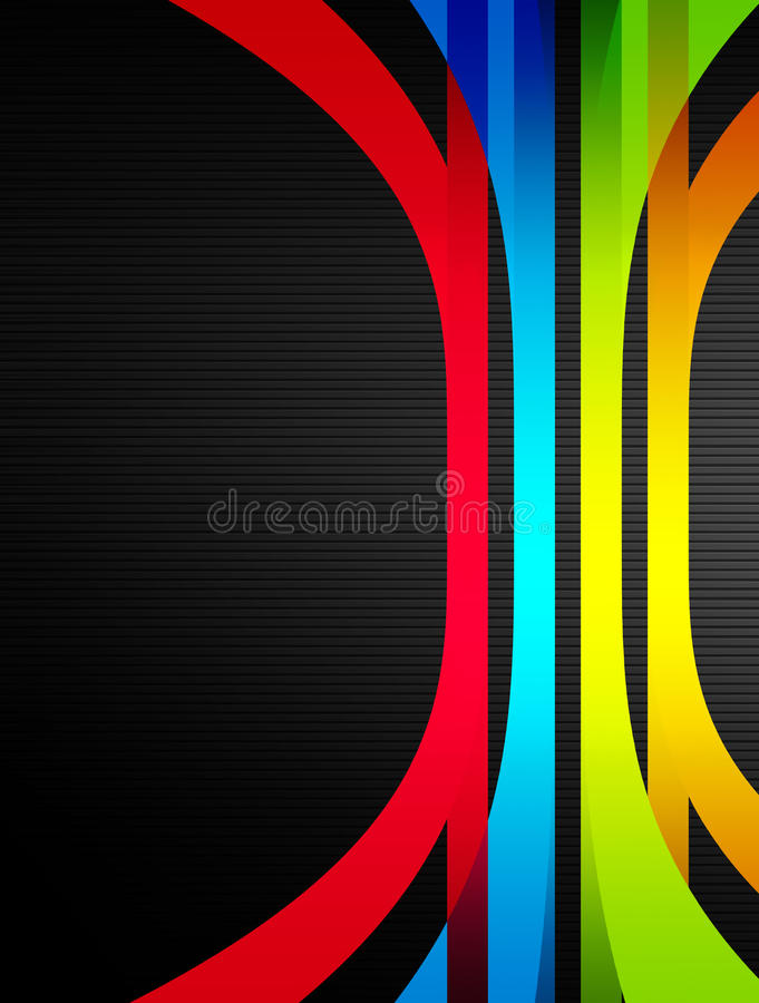 Colors. Red, blue and green ribbons over gray background vector illustration