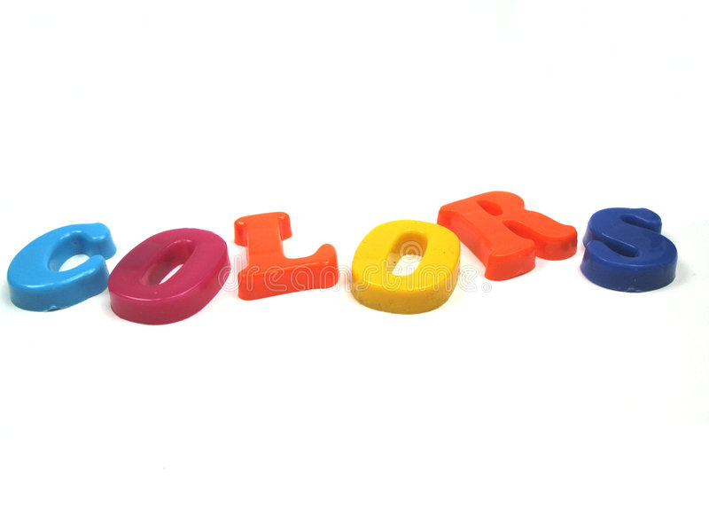 Download Colors in 3d stock image. Image of sign, letters, spelled - 6813037
