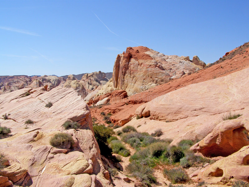 Colors. Rock formation found in the Valley of Fire in Nevada stock photo