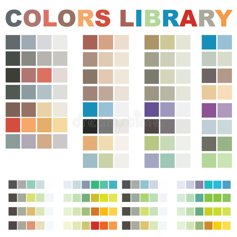 colors arkivvektorn stock illustrationer