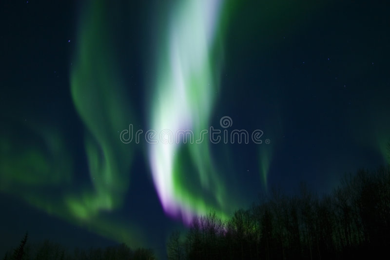 Colors of aurora royalty free stock photography