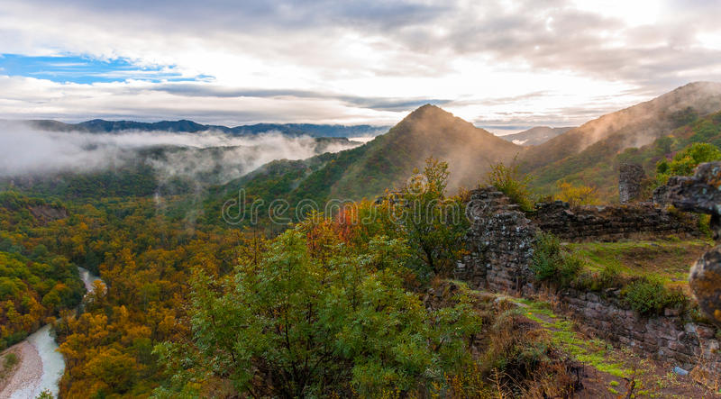 Colors of autumn in Georgia. The end of October 2015. royalty free stock images