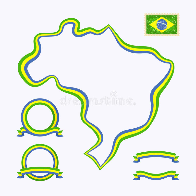 Download Colors of Brazil stock vector. Illustration of symbol - 33306317