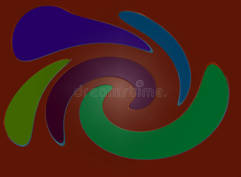 Download Colors on Brown stock illustration. Image of color, green - 18775735