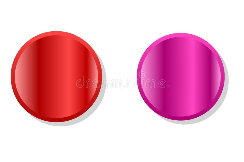 Colors buttons. Modern colors buttons set on white stock photo