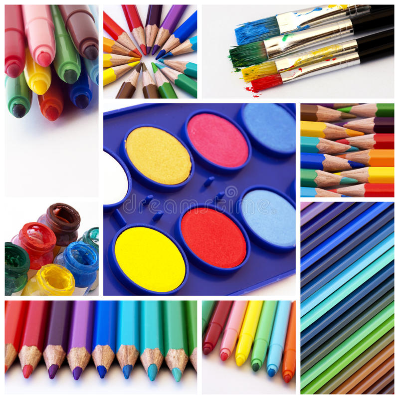 Colors collage royalty free stock images