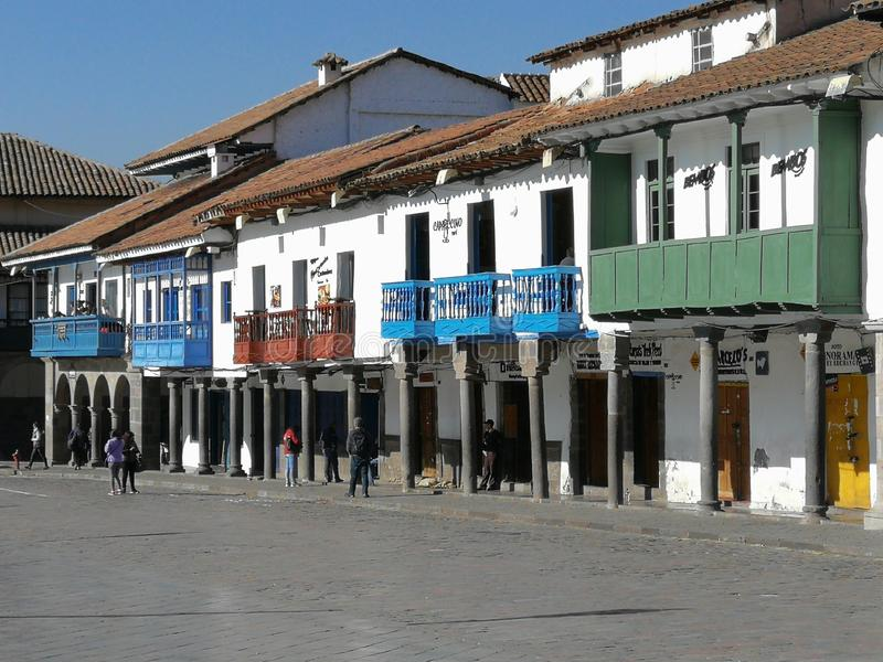 Colors of cusco stock photo