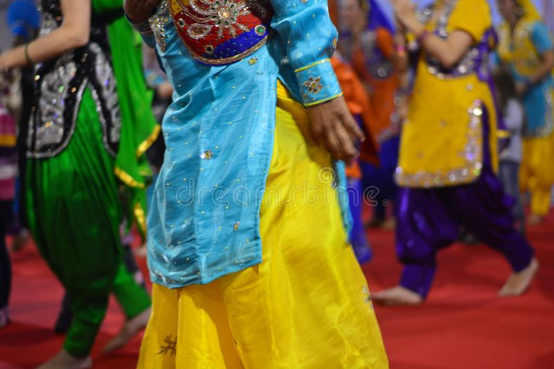 The colors of dancers in traditional dances. Discovering the colors of the perfumes traveling in the East stock photos