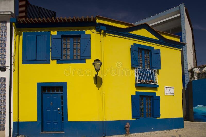 Colors facades Aveiro Portugal royalty free stock image