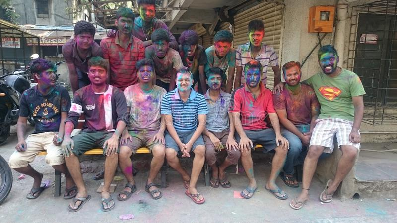colors festival royaltyfri fotografi