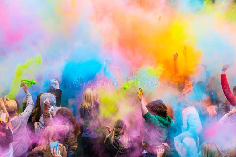 colors festival royaltyfri foto