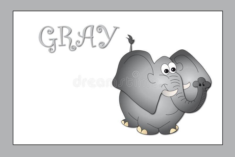 colors gray royaltyfri illustrationer