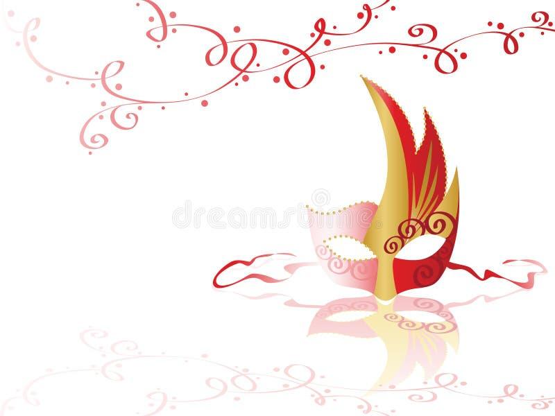 colors guldmaskeringen röd royaltyfri illustrationer