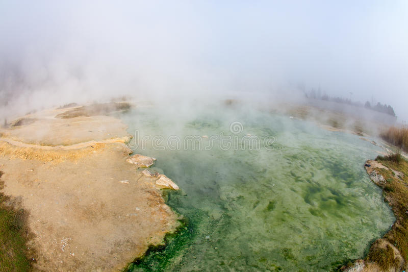 Colors Hot Spring Rupite, Bulgaria. Bulgaria - one of the densely populated countries in Europe. The country occupies a leading position for the production of stock images