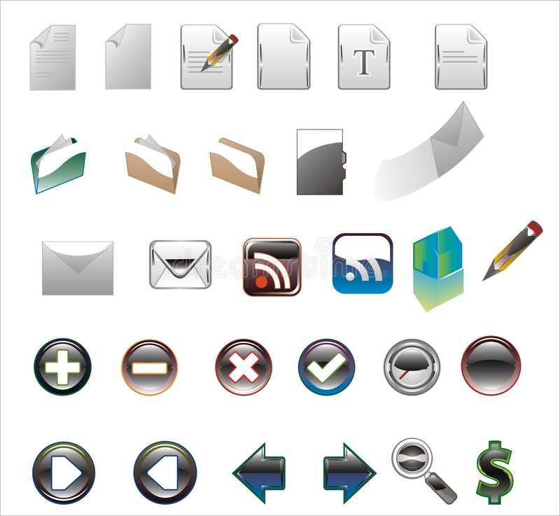 Download Colors Icons On A White Background. Royalty Free Stock Images - Image: 6429669