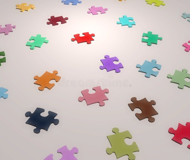 colors jigsawen stock illustrationer