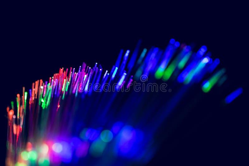 Laser fiber optic cable communication stock images