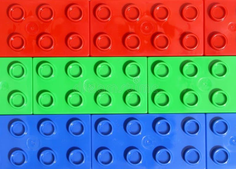 colors legoen rgb royaltyfri bild