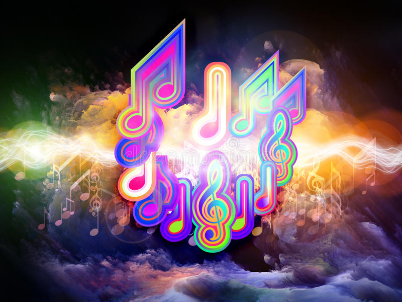 Download Colors of Musical Energy stock illustration. Image of imagination - 22585080