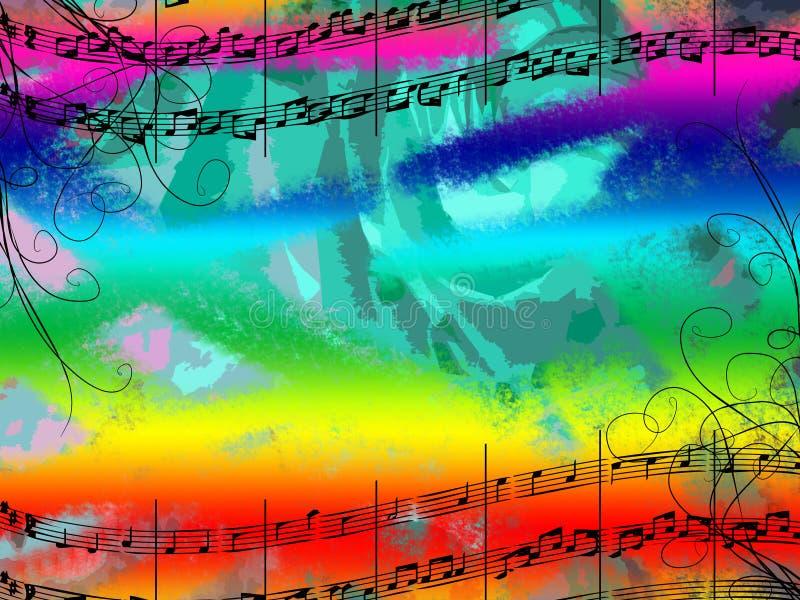 colors musik royaltyfri illustrationer