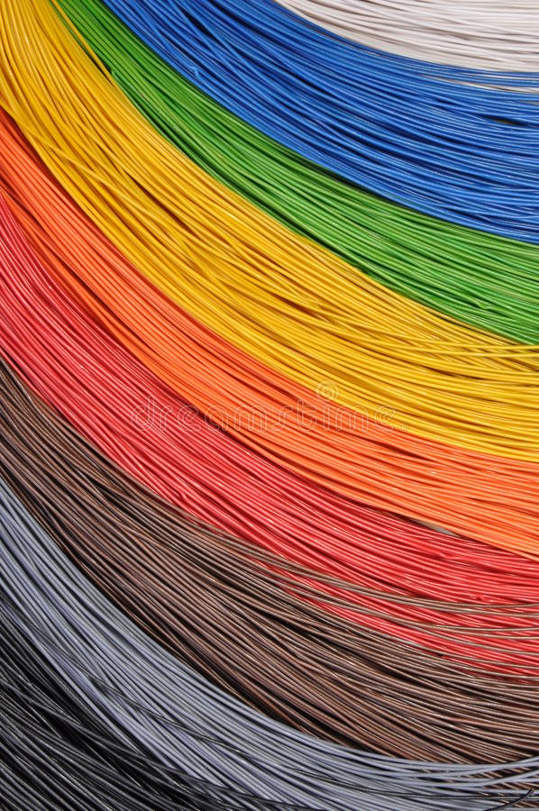 The colors of networks royalty free stock photos