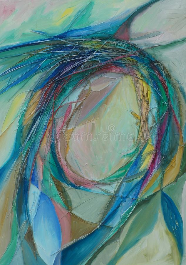 colors oljemålningen royaltyfria bilder