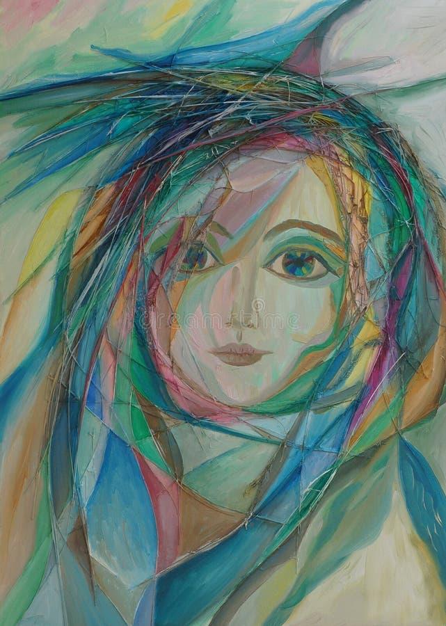 colors oljemålningen arkivbild